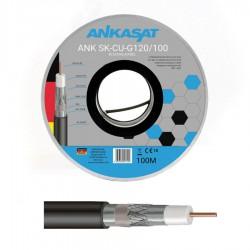 Kabel koncentryczny AnkaSat Cu żelowany 100m