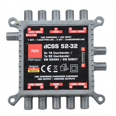 Multiswitch Opticum Red dCSS 52-32 Unicable