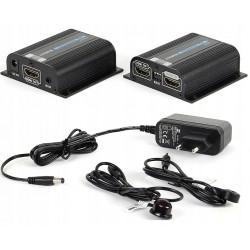 Przedłużacz Extender HDMI po skrętce 40m +IR