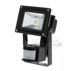 Reflektor LED 10W z sensorem ruchu i zmierzchu.
