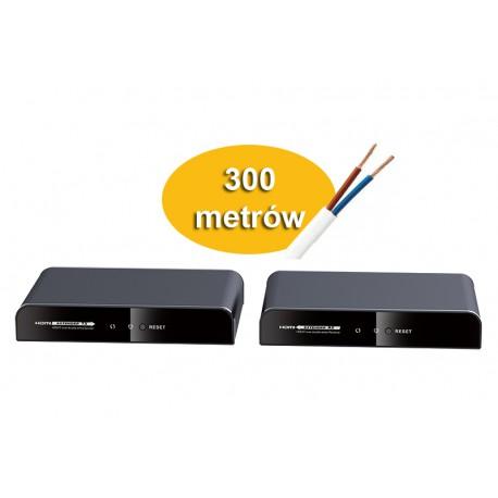 Przedłużacz Extender HDMI po kablu 2-żyłowym