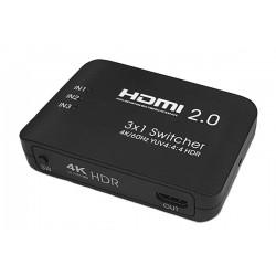 Przełącznik, sumator HDMI 3x1 4K 60Hz