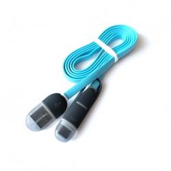 Kabel płaski do telefonu MICRO USB/USB-C 2w1