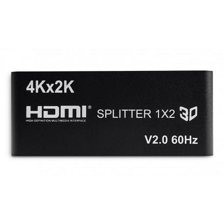 Rozdzielacz 1x2 HDMI 2.0 HDCP 4K@60Hz