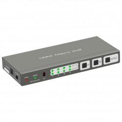 Przełącznik Matrix HDMI 4x2 4K EDID