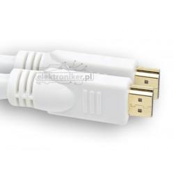 Kabel HDMI biały 19pin 10m
