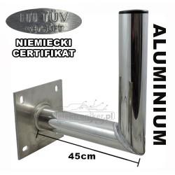 Stojak antenowy aluminiowy ścienny AS Sat 45cm