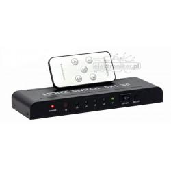 Przełącznik HDMI 5x1 v1.4a z pilotem