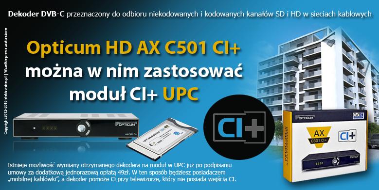 Opticum Dvb C Hd Ax C501 Ci Elektroniker Pl