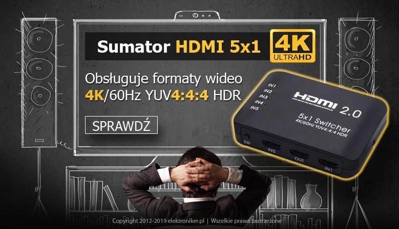 Sumator HDMI 5x1 4K 60Hz