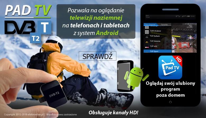 Pad TV HD DVB-T/DVB-T2 na urządzenia mobilne ANDROID