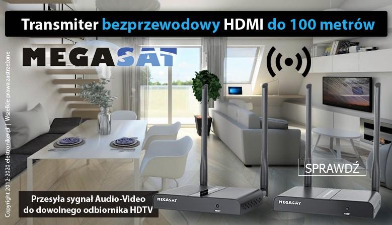 Bezprzewodowy transmiter HDMI Premium 100m
