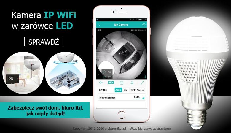 Kamera IP WiFi w żarówce LED