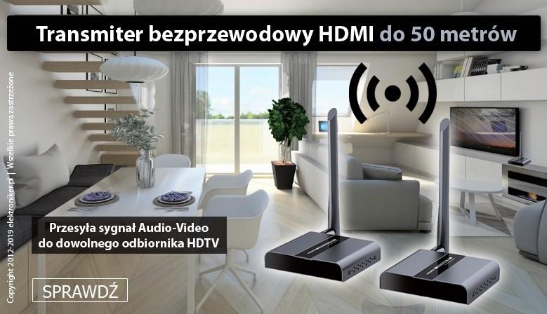 Bezprzewodowy transmiter HDMI do 50m