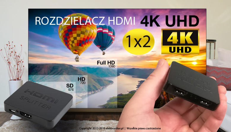 Rozdzielacz HDMI 1x2 4Kx2K